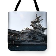 Sailors Jump To The Sea During A Swim Tote Bag