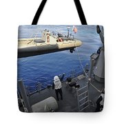Sailors Lower A Rigid Hull Inflatable Tote Bag