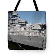 Sailors Man The Rails Tote Bag