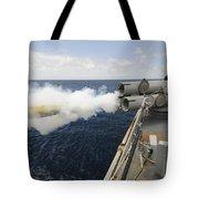Sailors Observe A Mk-46 Recoverable Tote Bag