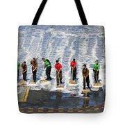 Sailors Perform A Flight Deck Wash Tote Bag
