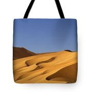 Sand Dune Against Clear Sky Tote Bag