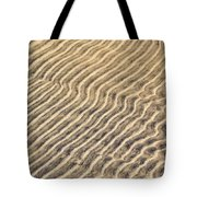 Sand Ripples In Shallow Water Tote Bag