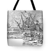 Santa Maria: Wreck, 1492 Tote Bag by Granger