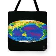 Satellite Image Of The Earths Biosphere Tote Bag