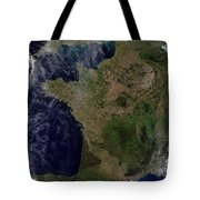 Satellite View Of France Tote Bag