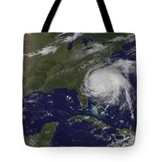Satellite View Of Hurricane Irene Tote Bag