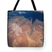 Satellite View Of Planet Earth Tote Bag