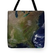 Satellite View Of The United States Tote Bag