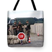 Scenery Of A Checkpoint Used Tote Bag