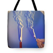 Schlieren Image Of A Candle And Match Tote Bag