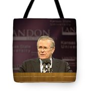 Secretary Of Defense Donald H. Rumsfeld Tote Bag