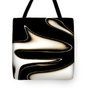 Sepia Steel Abstract Tote Bag