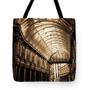 Sepia Toned Image Of Leadenhall Market London Tote Bag