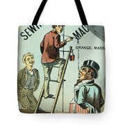 Sewing Machine Trade Card Tote Bag by Granger