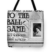 Sheet Music: Take Me Out Tote Bag