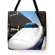 Shinkansen At Tokyo Station Tote Bag
