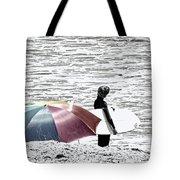 Surfer Umbrella Tote Bag