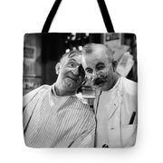 Silent Still: Barber Shop Tote Bag