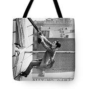 Silent Still: Man In Distress Tote Bag
