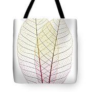 Skeleton Leaves Tote Bag