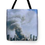 Smoke Billows Over Manhattan Tote Bag