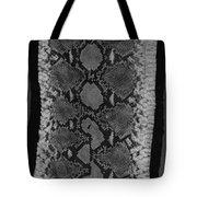 Snake Skin In Black And White Tote Bag