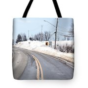 Snow By The Roadside Tote Bag by Ted Kinsman