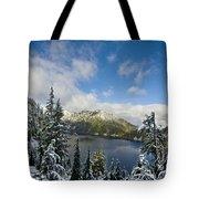 Snow Lake Vista Tote Bag