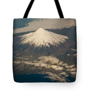 Snowcovered Volcano Andes Chile Tote Bag