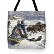 Snowstorm In The Country Tote Bag
