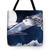 Snowy Flight Tote Bag by Debbie LaFrance