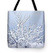Snowy Trees Tote Bag by Elena Elisseeva