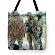 Soldiers Of The Special Forces Group Tote Bag