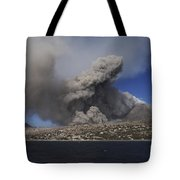 Soufriere Hills Eruption, Montserrat Tote Bag