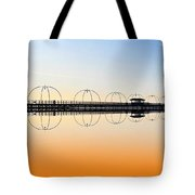 Southport Pier Reflections  Tote Bag