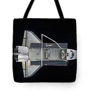 Space Shuttle Atlantis Backdropped Tote Bag