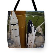 Space Shuttle Endeavour Lifts Tote Bag