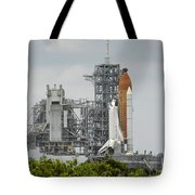 Space Shuttle Endeavour On The Launch Tote Bag