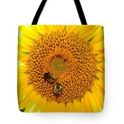 Spider And The Bees Tote Bag