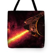 Spitzer Seen Against The Infrared Sky Tote Bag