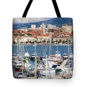 Split Cityscape Tote Bag