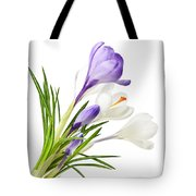 Spring Crocus Flowers Tote Bag
