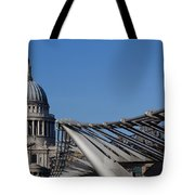 St Pauls Cathedral And The Millenium Bridge  Tote Bag