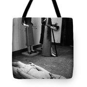 Stripped Saints Tote Bag by Gaspar Avila