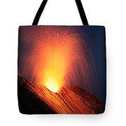Strombolian Eruption Of Stromboli Tote Bag