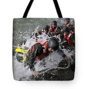 Students In Basic Underwater Tote Bag by Stocktrek Images