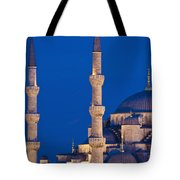 Sultanahmet Or Blue Mosque At Dusk Tote Bag