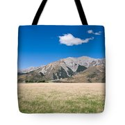 Summer Landscape Blue Sky  Tote Bag