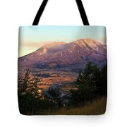Sun Going Down At Mt. St. Helens Tote Bag